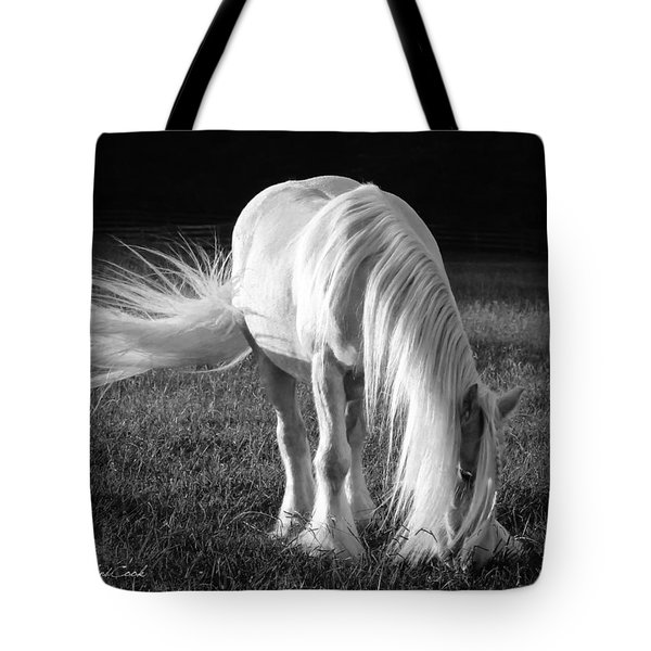 White On Black And White Tote Bag
