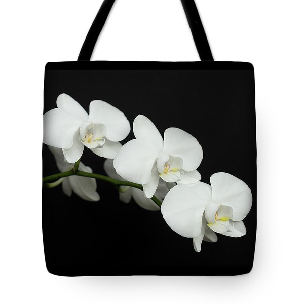 White On Black Tote Bag