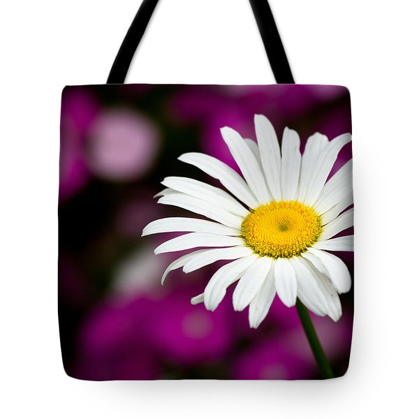 White On Pink Tote Bag