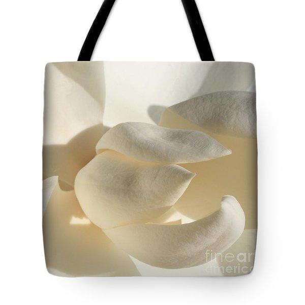 White-on-white Magnoia Tote Bag