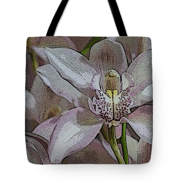 White Orchid Flower Tote Bag