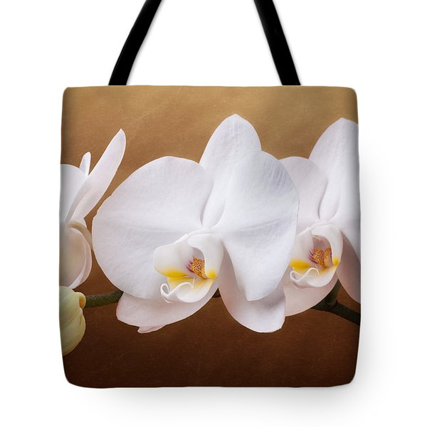 White Orchid Flowers And Bud Tote Bag