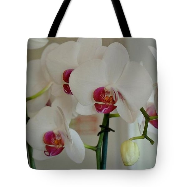 White Orchid Mothers Day Tote Bag by Marsha Heiken