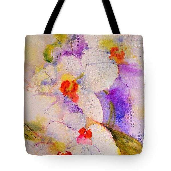 White Orchids Tote Bag by Betty M M Wong