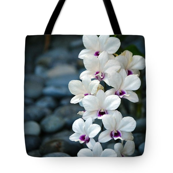 Tote Bag featuring the photograph White Orchids by Debbie Karnes