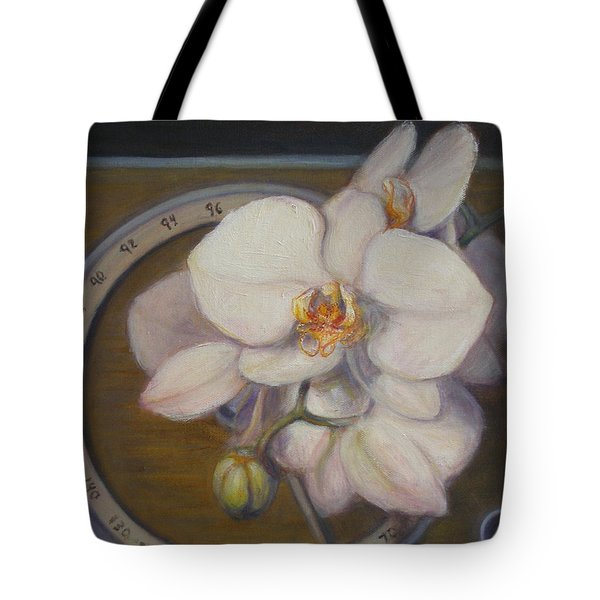 Tote Bag featuring the painting White Orchids by Donelli  DiMaria