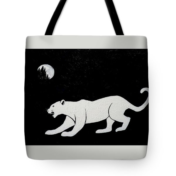 White Panther Tote Bag