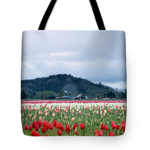 White Pass Highway With Tulips Tote Bag