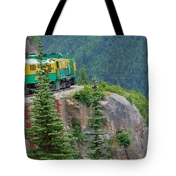 White Pass Train Alaska - Canada Tote Bag