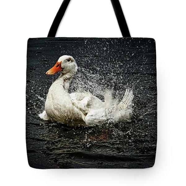 White Pekin Duck Tote Bag