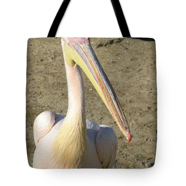 White Pelican Tote Bag by Sally Weigand