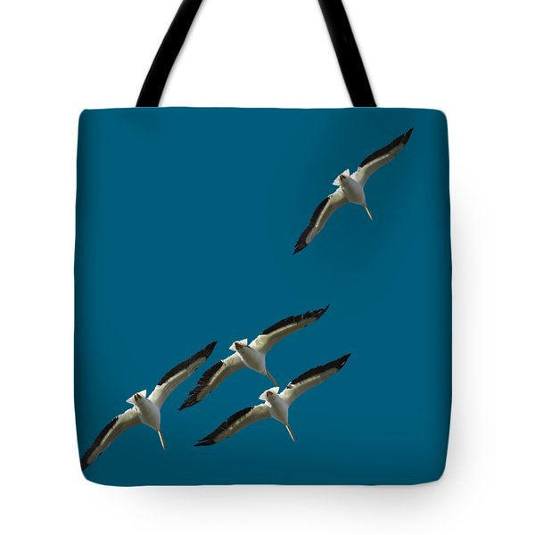 White Pelicans Transparency Tote Bag
