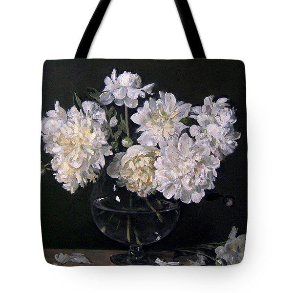 White Peonies Are Ready To Explode Tote Bag