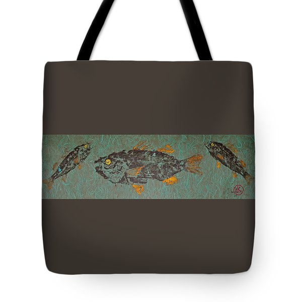 White  Perch With Yellow Perch Tote Bag