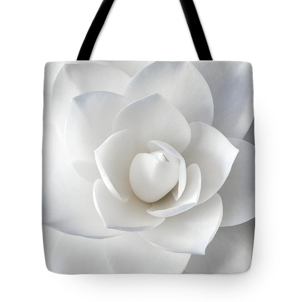 White Petals Tote Bag