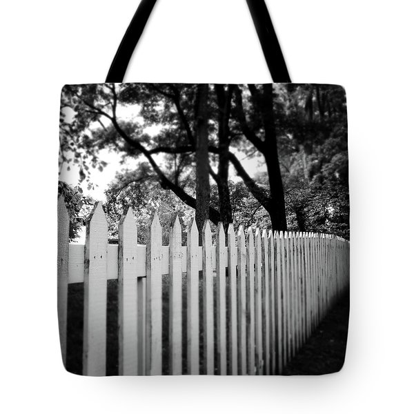 White Picket Fence- By Linda Woods Tote Bag
