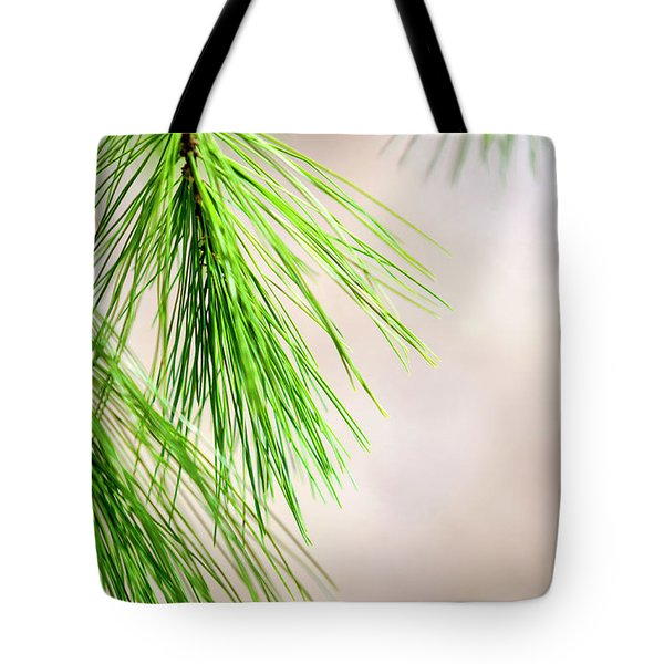 Tote Bag featuring the photograph White Pine Branch by Christina Rollo
