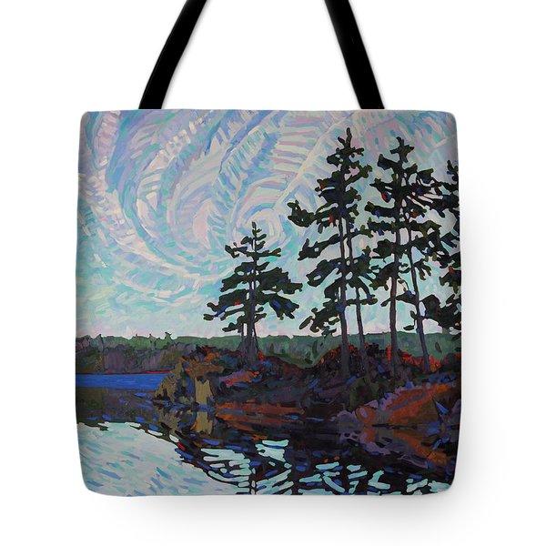 White Pine Island Tote Bag by Phil Chadwick