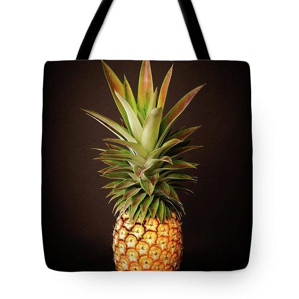 White Pineapple King Tote Bag