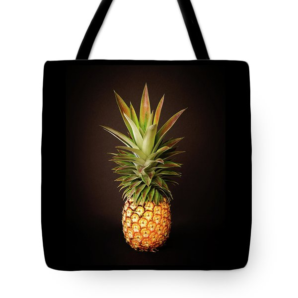 White Pineapple King Tote Bag