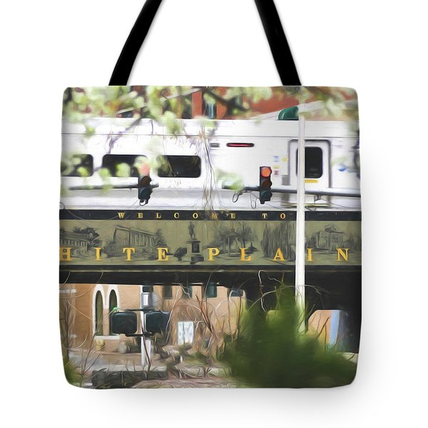 White Plains Train Station Tote Bag