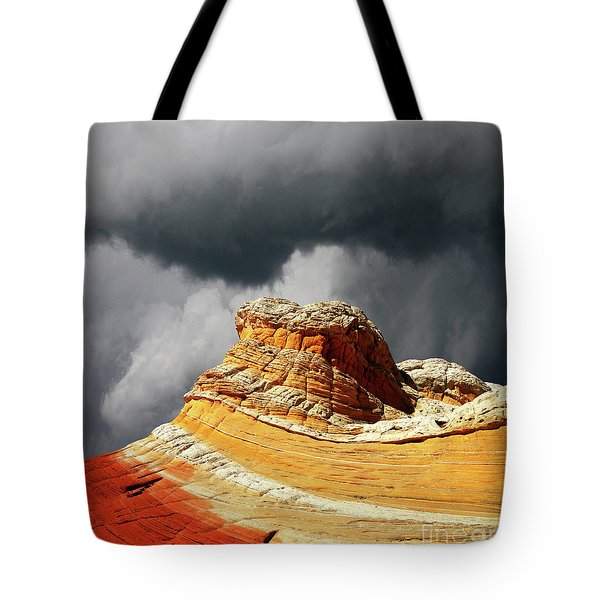 Tote Bag featuring the photograph White Pocket 35 by Bob Christopher