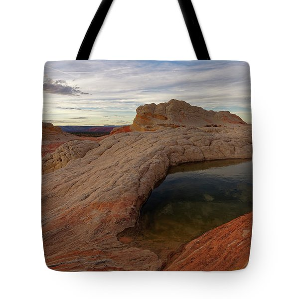 Tote Bag featuring the photograph White Pocket Reflecton by Jonathan Davison