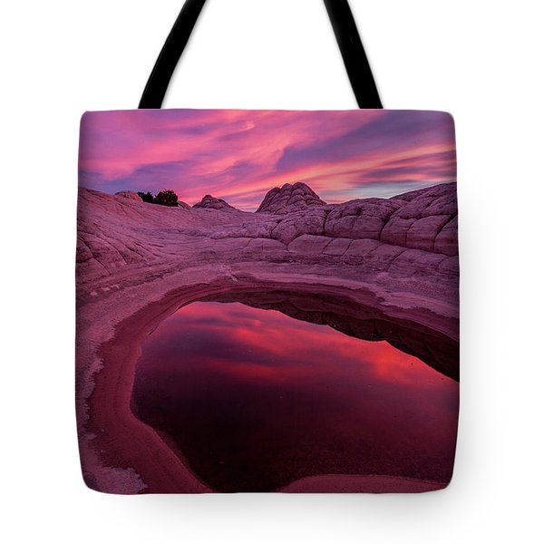 Tote Bag featuring the photograph White Pocket Sunset by Wesley Aston
