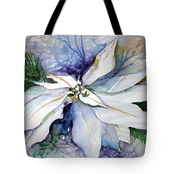 White Poinsettia Tote Bag