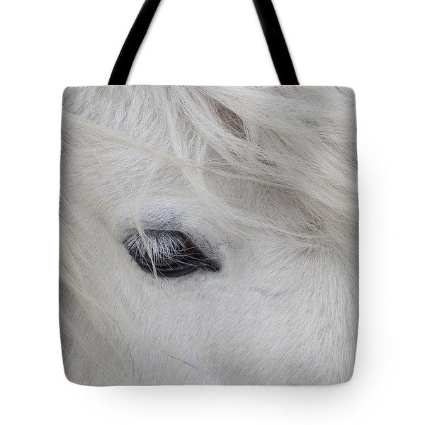 White Pony Tote Bag