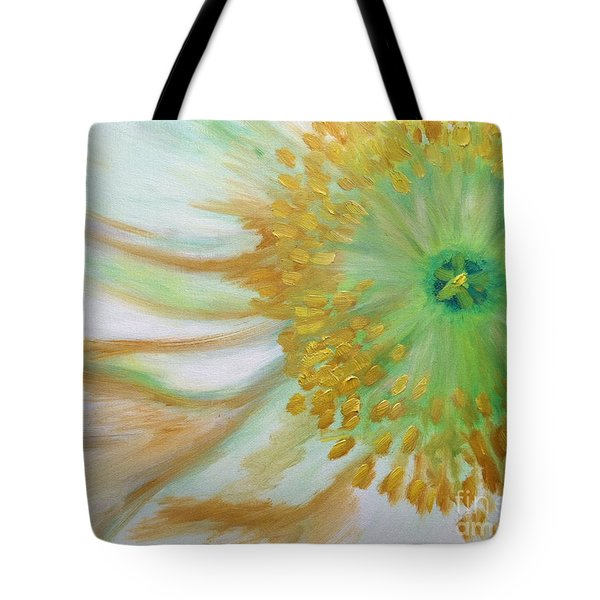 White Poppy Tote Bag