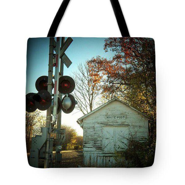 White Post Station Tote Bag