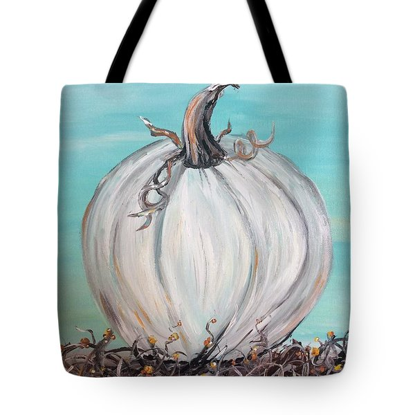 White Pumpkin Tote Bag