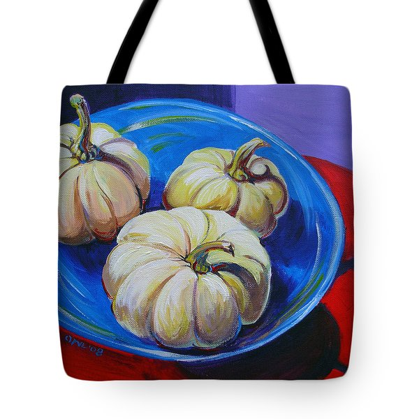 White Pumpkins Tote Bag