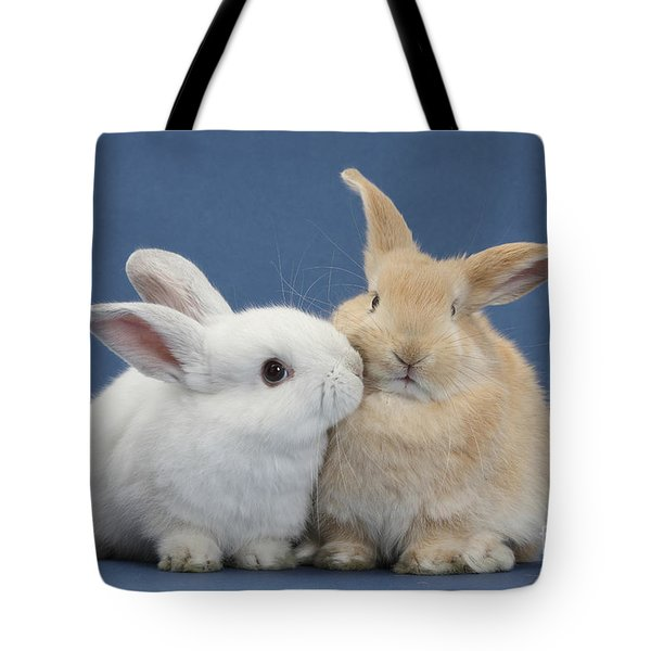 White Rabbit And Sandy Rabbit Tote Bag