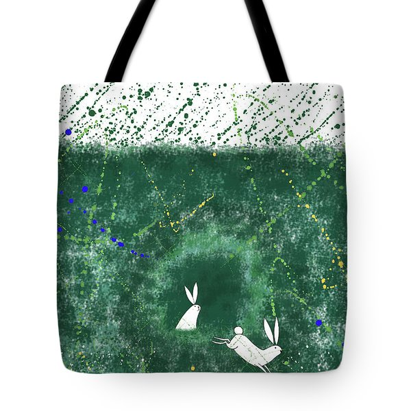 White Rabbits  Tote Bag