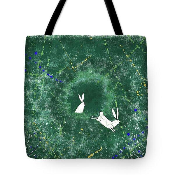 White Rabbits  Tote Bag