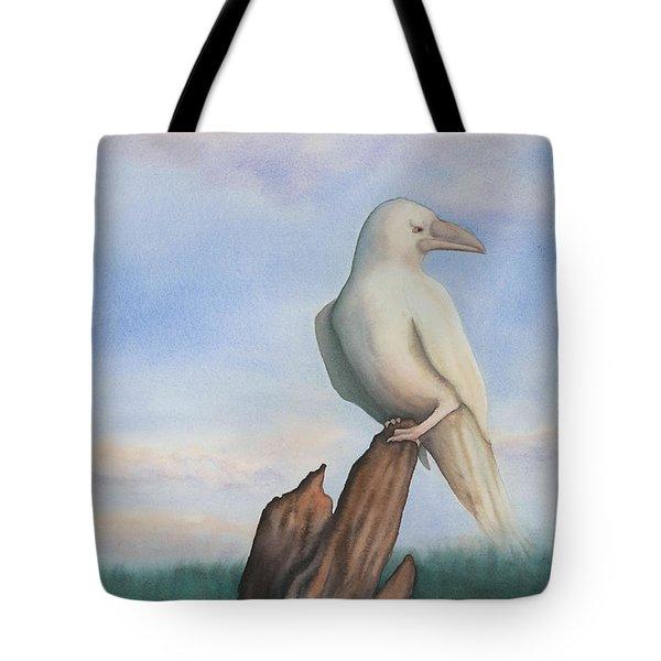 White Raven Tote Bag by Anne Havard