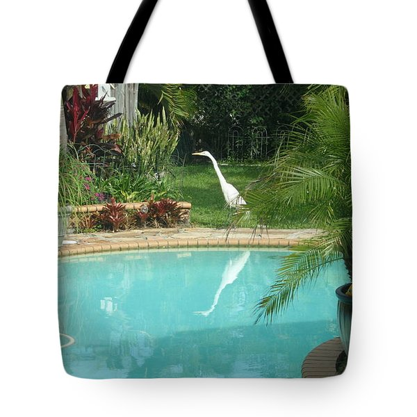 White Reflection Tote Bag