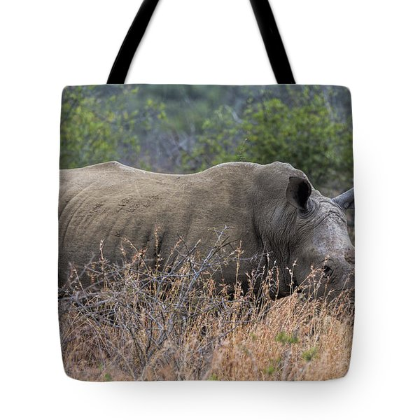 White Rhino Tote Bag