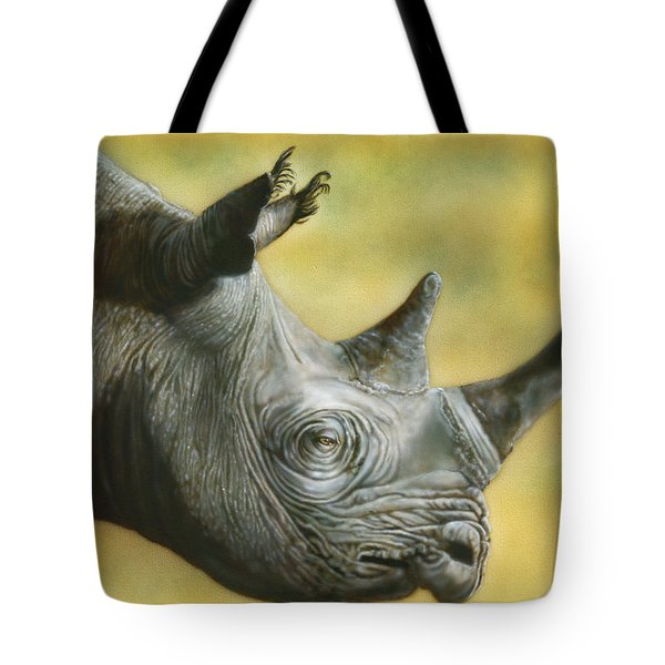 White Rhino Tote Bag