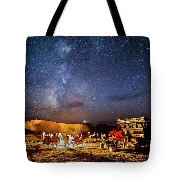 White Rim Camp Tote Bag