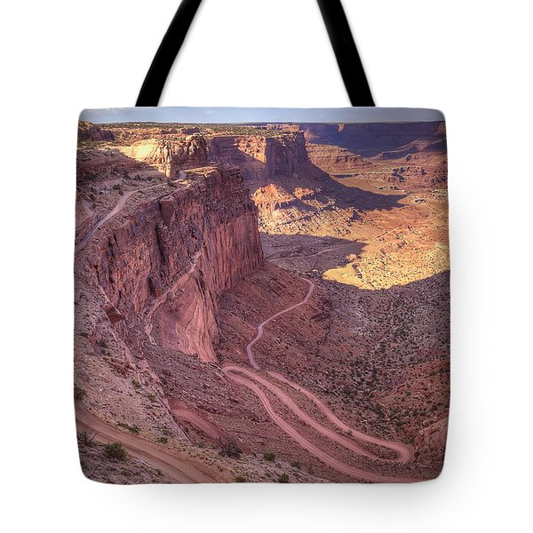 White Rim Road Tote Bag
