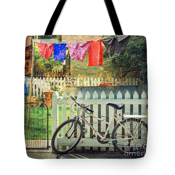 White River Bicycle Tote Bag