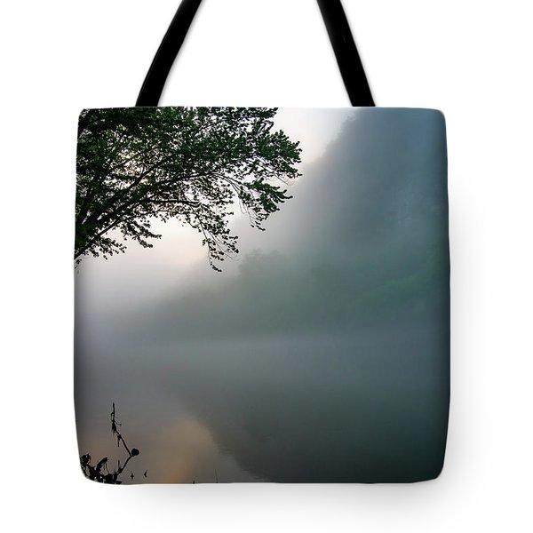 White River Morning Tote Bag