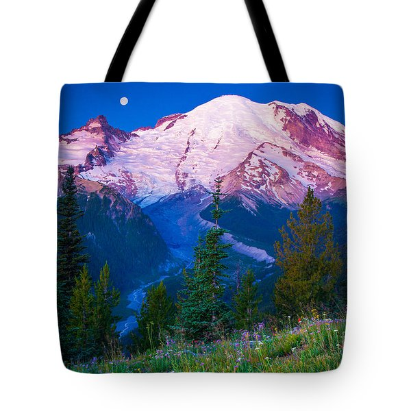 White River Predawn Tote Bag by Inge Johnsson