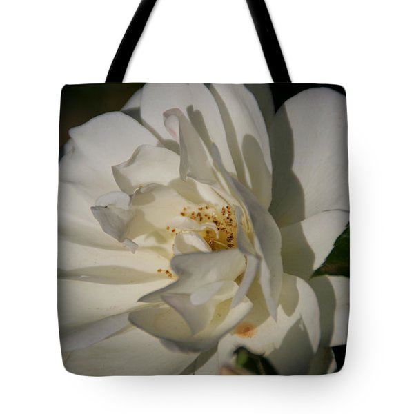 White Rose Tote Bag by Andrea Jean
