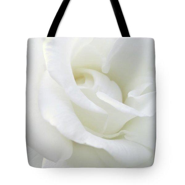 White Rose Angel Wings Tote Bag