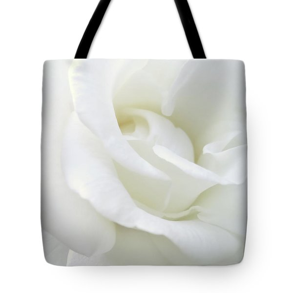 White Rose Angel Wings Tote Bag
