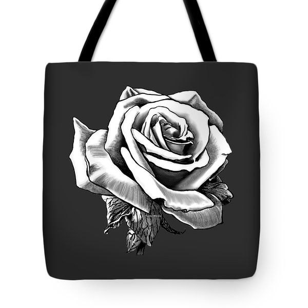 White Rose For The Lady Tote Bag